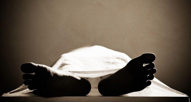 Dead body in a mortuary